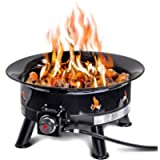 Outland Firebowl 883 Mega Outdoor Propane Gas Fire Pit with UV and Weather Resistant Durable Cover, 24-Inch Diameter 58…
