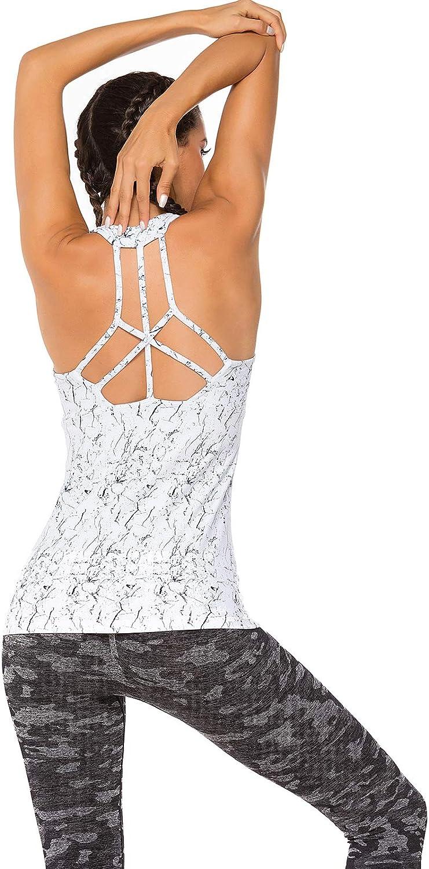 FITTOO Sujetador Deportivo Tops de Yoga Correr Gimnasio para Mujer
