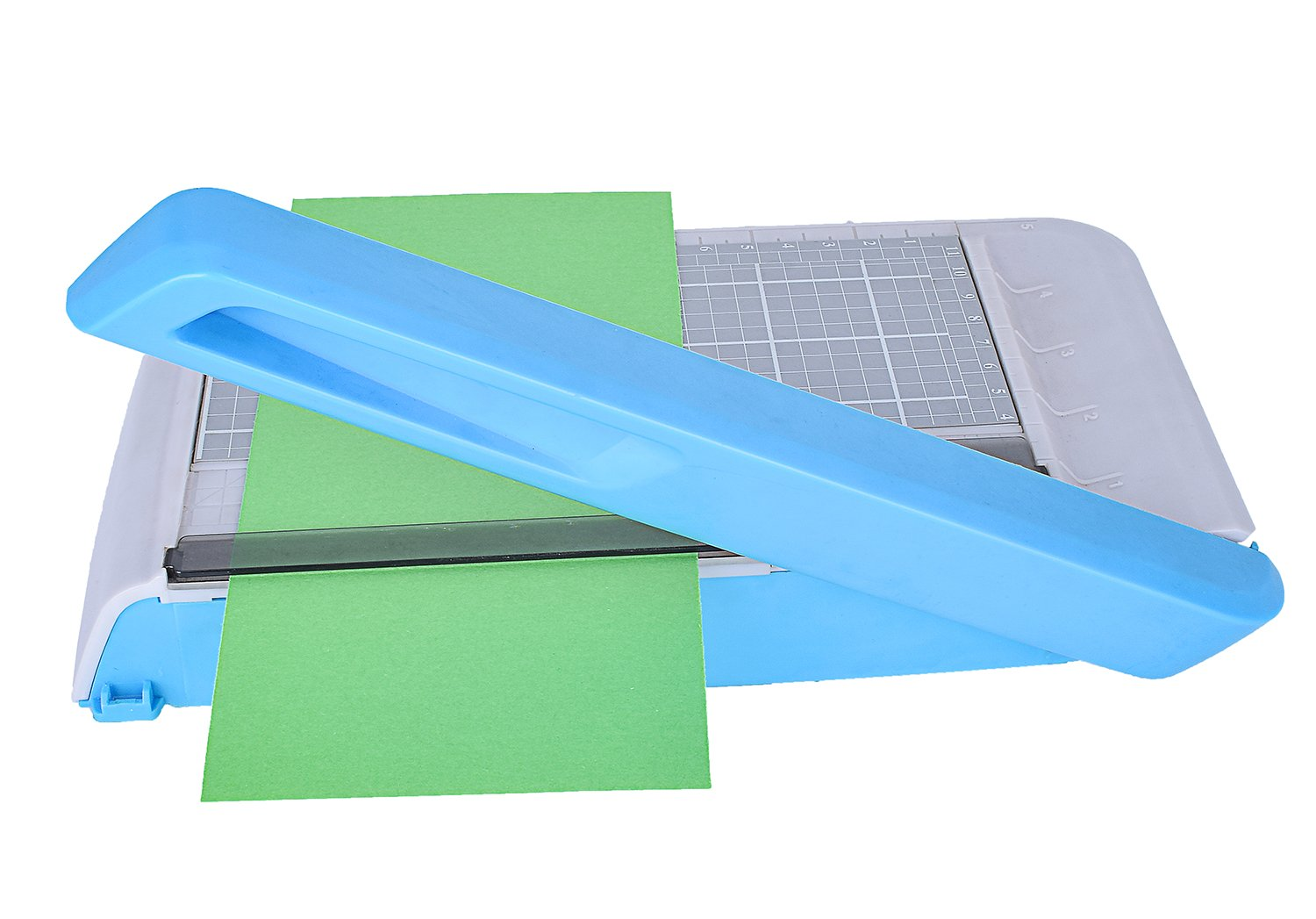 Paper Cutter Machine Photo Cutter Business Card Cutter Small Size with Mezzanine Storage Room (Small)