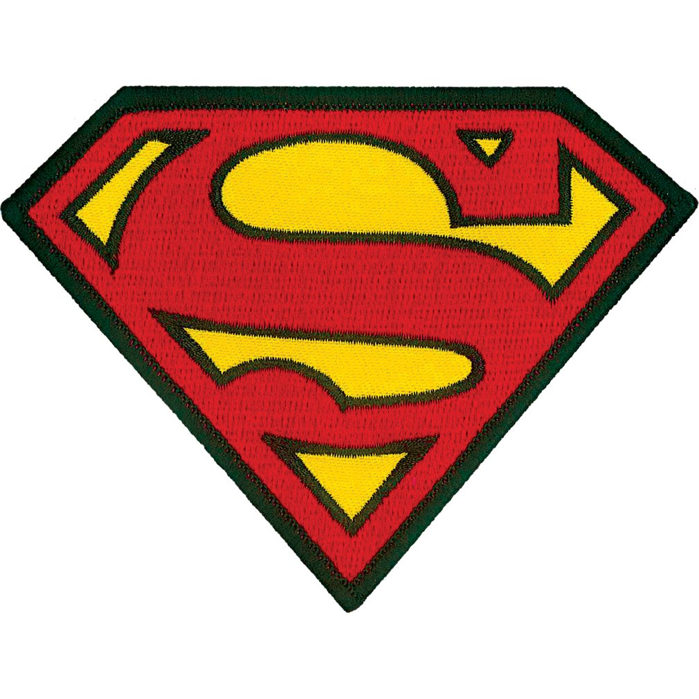 Ata-Boy DC Comics Superman Logo 3 Full Color Iron-On Patch Inc. 61023DC