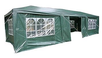 AirWave 5060176861893 - Pabellón, 3 x 9 m, verde, incluyendo 3 x varillas