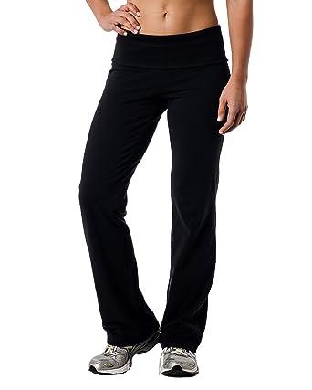 Alki'i Luxurious Cotton Lycra Fold over Yoga Pants at Amazon ...