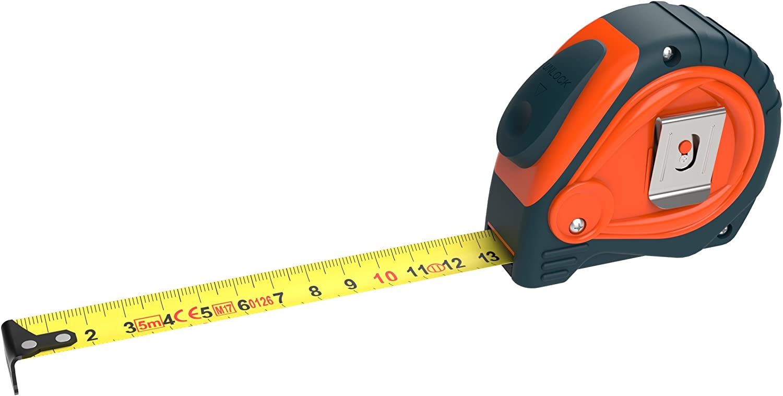 Ruban à mesurer mètre Mètre ruban 5 m rollmeter Autostop rollmaßband Rollbandmaß du crochet d/'arrivée