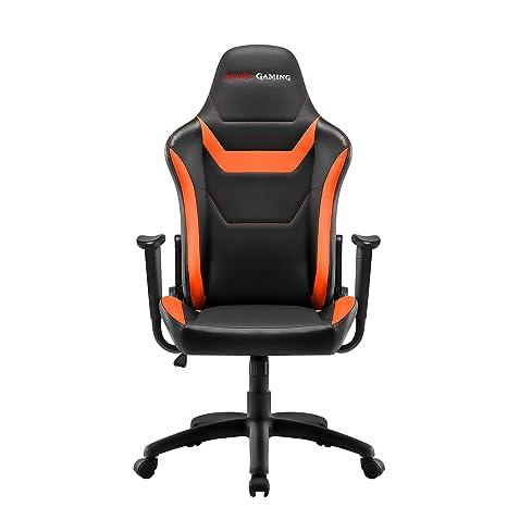 Mars Gaming MGC218 - Silla profesional, tecnología AIR, reclinable 180°, naranja