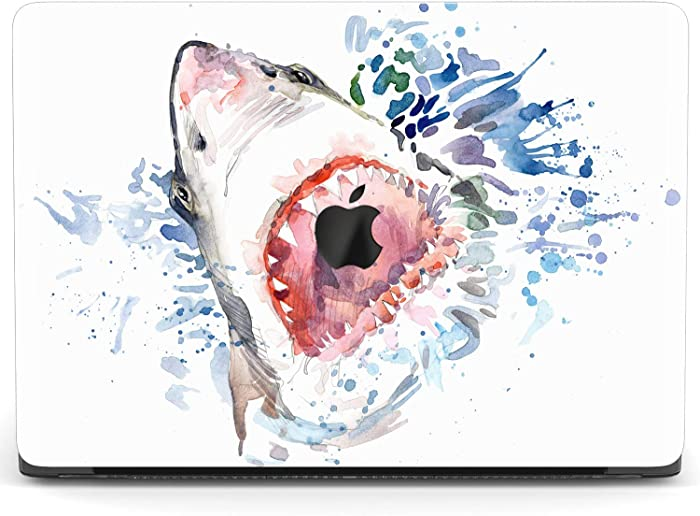 Mertak Hard Case for Apple MacBook Pro 16 Air 13 inch Mac 15 Retina 12 11 2020 2019 2018 2017 Monster Protective Funny Fish Cover Touch Bar Print Clear Laptop Shark Mouth Animal Plastic Design