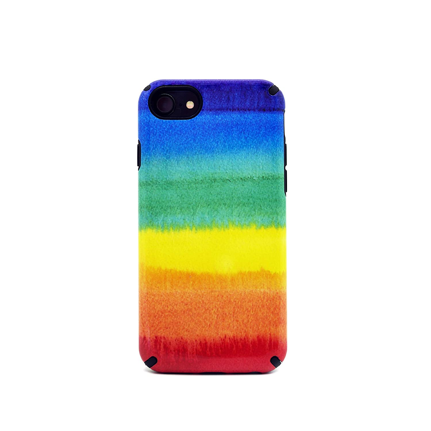 save off 585da 5f11d Rainbow case Compatible with Apple iPhone 7/8 Plus Case, LGBT Slim Dual  Layer Scratch Protective Case Fit for Apple iPhone Hybrid Hard Back Cover  and ...