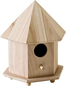 Plaid Enterprises, Inc. Plaid Wood Surface Crafting Birdhouse, Gazebo