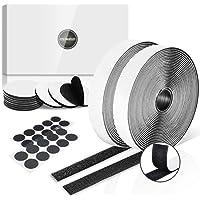 Klittenband Zelfklevend Zwart Extra Sterk 8 m Lang 20 mm Breed, Ronde Dubbelzijdig Klittenband Tape Diameter 50 mm en 20…