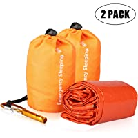 EEEKit Emergency Sleeping Bag, Waterproof Lightweight Thermal Bivy Sack, Survival Blanket Bags Portable Nylon Sack for…