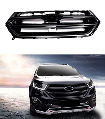 Baodiparts Black Front Grille Grill Sport Version With Camera Hole For Ford Edge