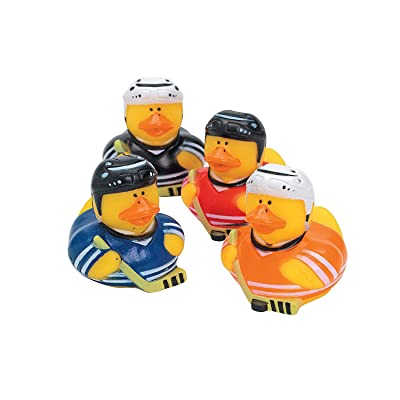 Fun Express - Hockey Rubber Duckies - Toys - Character Toys - Rubber Duckies - 12 Pieces: Toys & Games