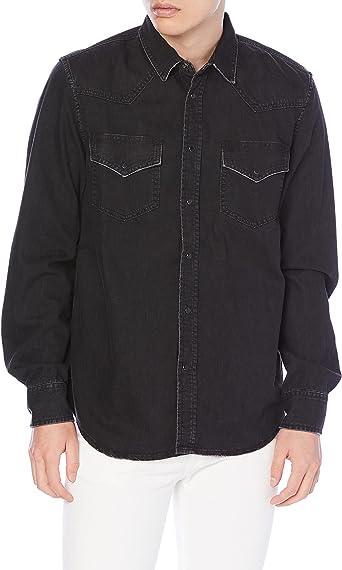 Diesel - Camisa vaquera negra Negro S: Amazon.es: Ropa y ...
