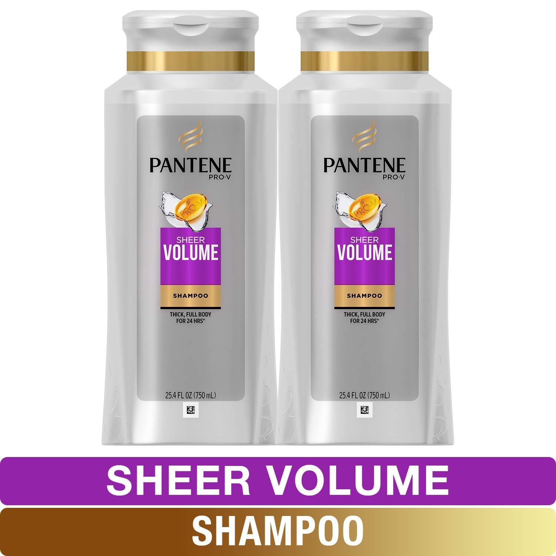 Pantene, Shampoo, Pro-V Sheer Volume for Fine Hair, 25.4 fl oz, Twin Pack by Pantene