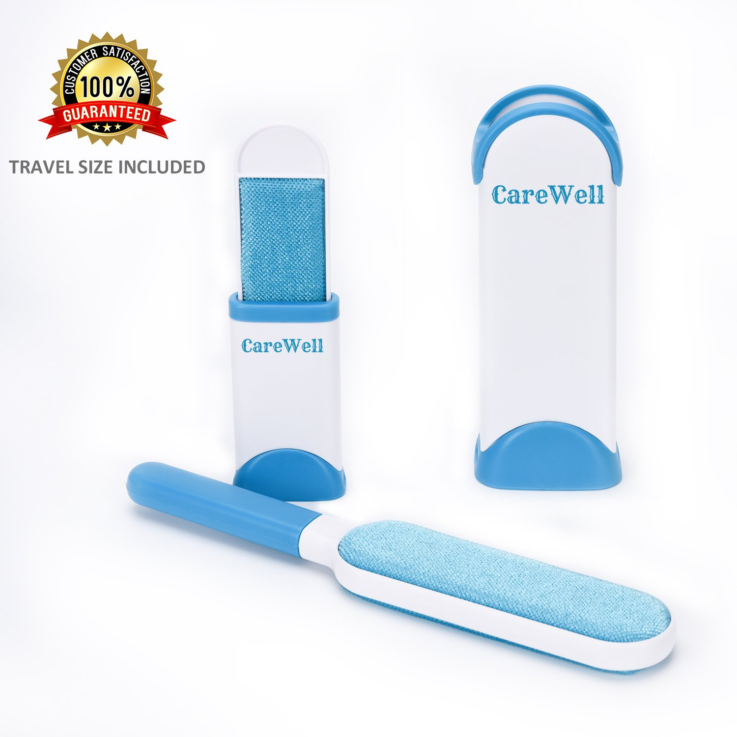 Fur Remover Pet Hair Remover with Self-Cleaning Base Lint Remover with Travel Size for Clothes, Beds, Furniture and Carpet