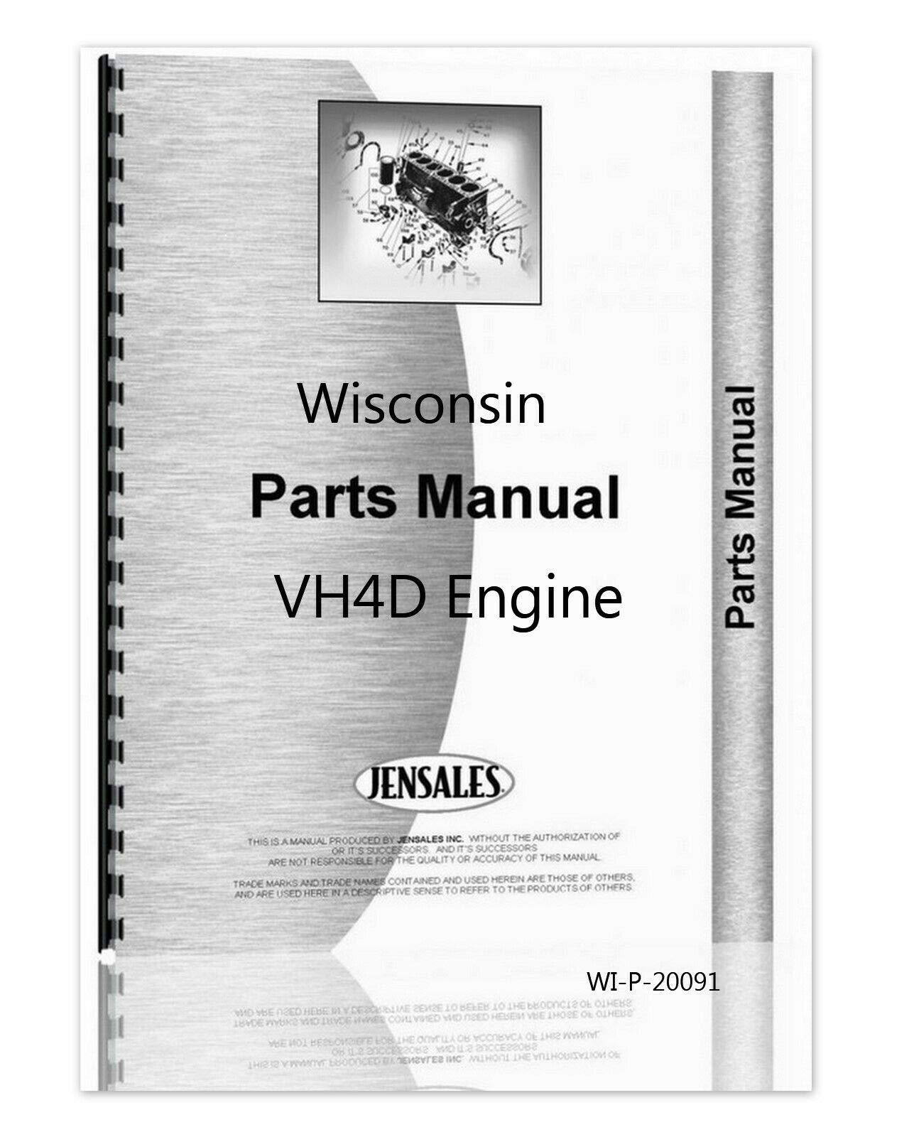 New, Complete Wisconsin Engine Model VH4D Parts Manual - Catalog: wisconsin:  Amazon.com: Books | Wisconsin Engine Parts Diagram |  | Amazon.com