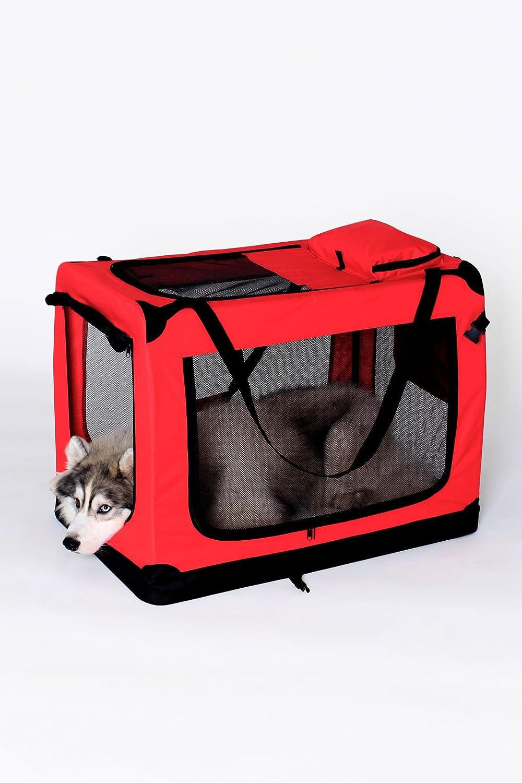 70x52x50 cm Azul, L dibea TB10032 Bolsa de Transporte para Perros y Gatos