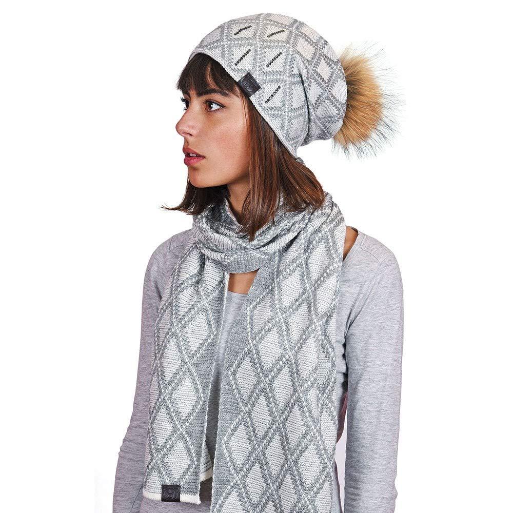 7d1bc2e0e79b9 Mokalunga Echarpe et bonnet Joia Gris - Fabriqué en europe: Amazon.fr:  Vêtements et accessoires