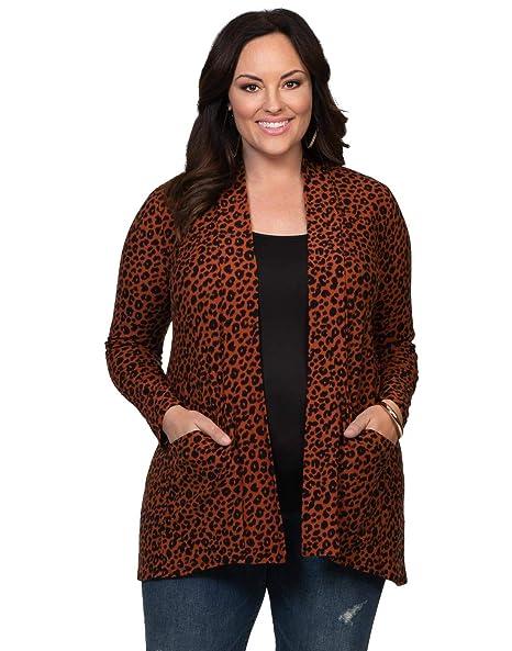 Amazon.com: kiyonna Plus Size Adriana chaqueta de punto de ...