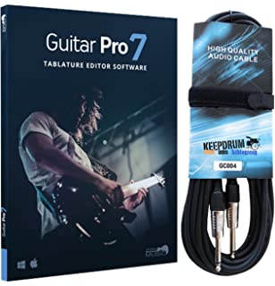 arobas Guitar Pro 7 notations Software de Keepdrum Guitarra Cable 6 m
