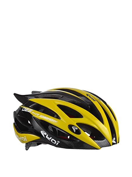 Ekoi Casco de ciclismo Diablo Negro/Amarillo S/M (53/58 cm