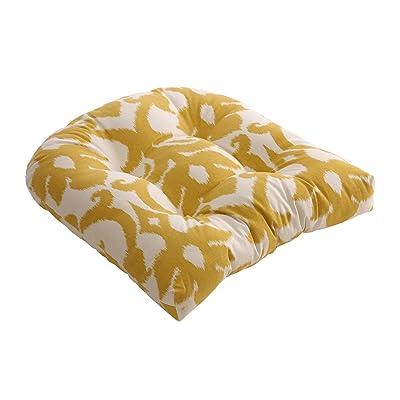 Pillow Perfect Azzure Chair Cushion, Marigold: Home & Kitchen