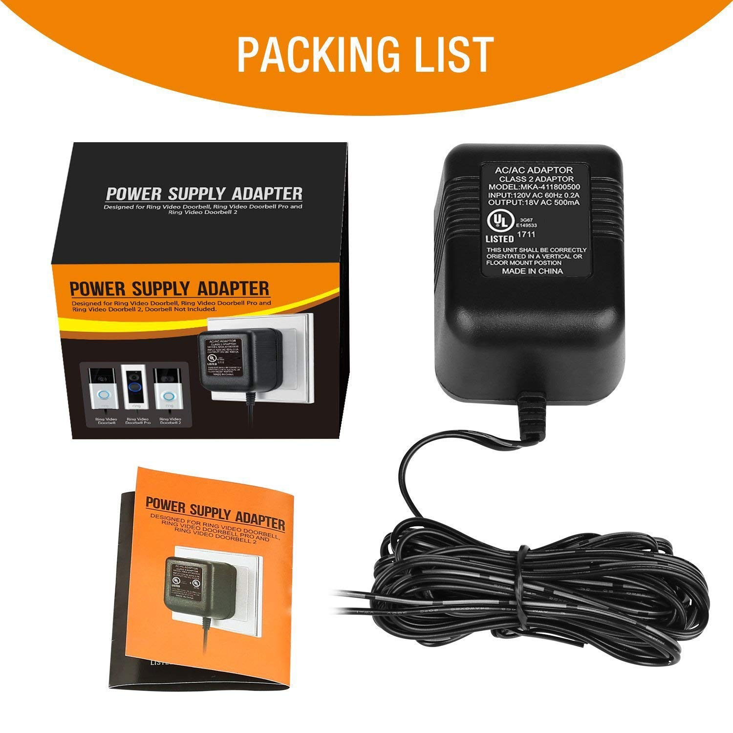 Power Adapter Video Doorbell Supply For The Ring Electrical Wiring Not Working 2 Pro