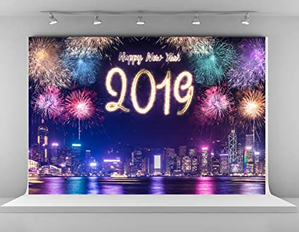 kate 7x5ft happy new year photography backdrops new york fireworks photo backgrounds