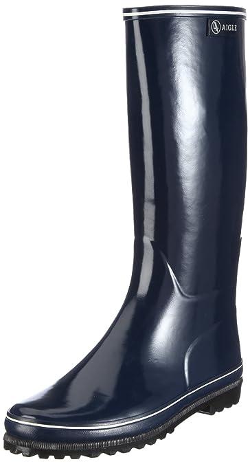 Aigle Venise, Bottes de pluie femme,Multicolore (Marine/Blanc) , 35