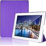 JETech Gold Slim Fit iPad 2/3/4 Funda Carcasa con Stand Función y Imán Incorporado para el Sueño/Estela para para Apple iPad 2, iPad 3 y el nuevo iPad 4 Smart Case Cover (Púrpura) - 0217