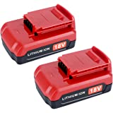 Lasica 2-Pack 18V Lithium Battery PC18B Replacement for Porter-Cable 18 Volt Cordless Power Tools PCC489N PCXMVC PC18B…