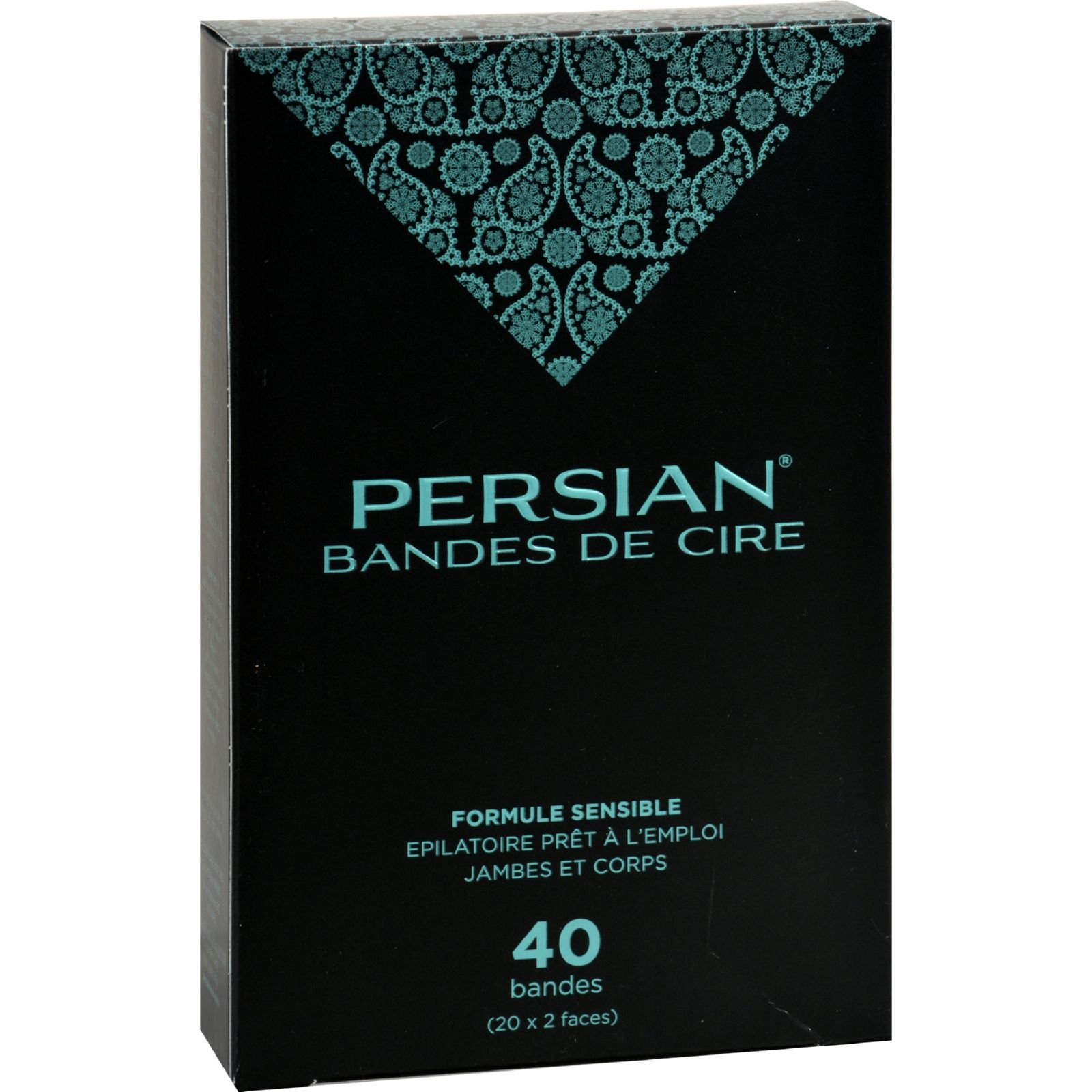 Parissa Persian Wax Strips for Legs - 40 Pack