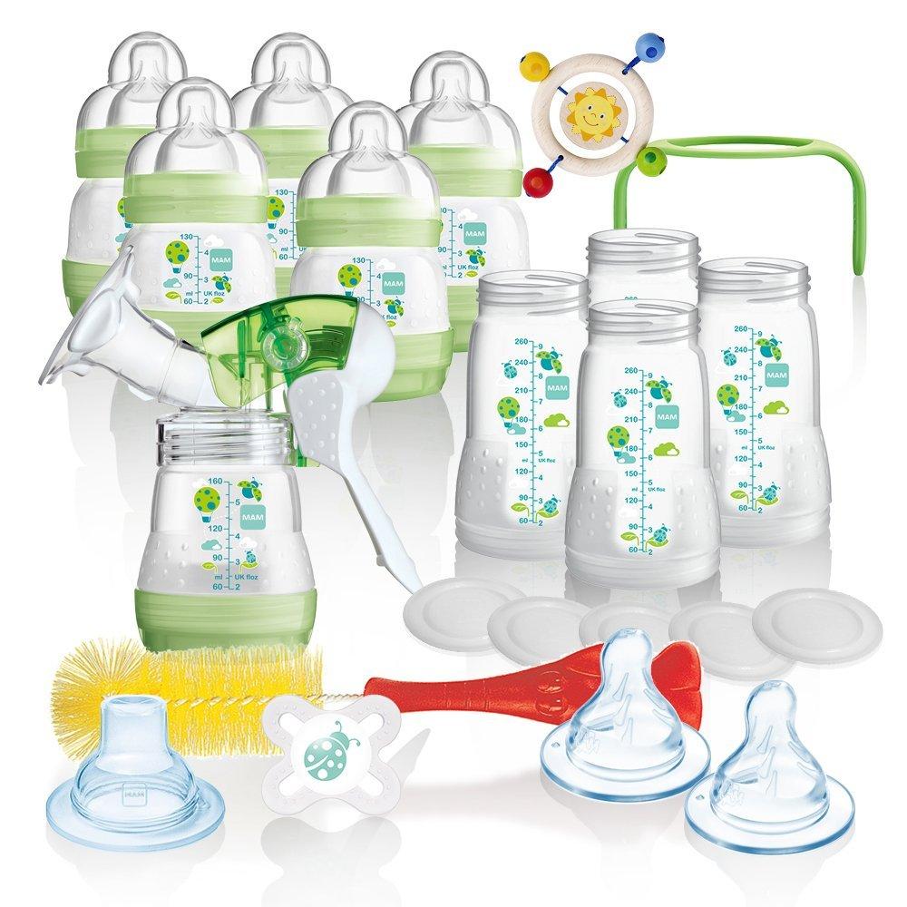MAM All-In-One Vorteilspack Starterset 23 tlg. Anti-Colic Flaschen Set Milchpumpe