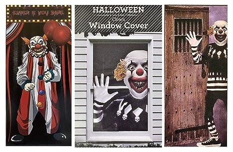 Creepy Clown Halloween Decorations.Amazon Com Rdc 02 Creepy Carnival Scary Clown Halloween