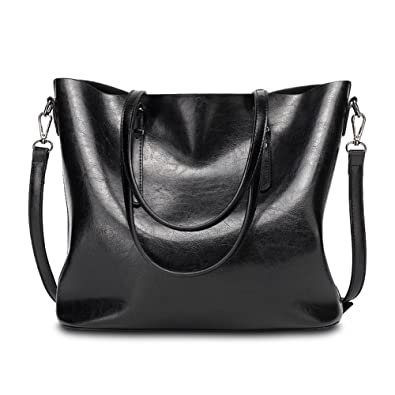 Amazon.com: Abshoo Women Soft Leather Handbags Tote Bags (Black ...