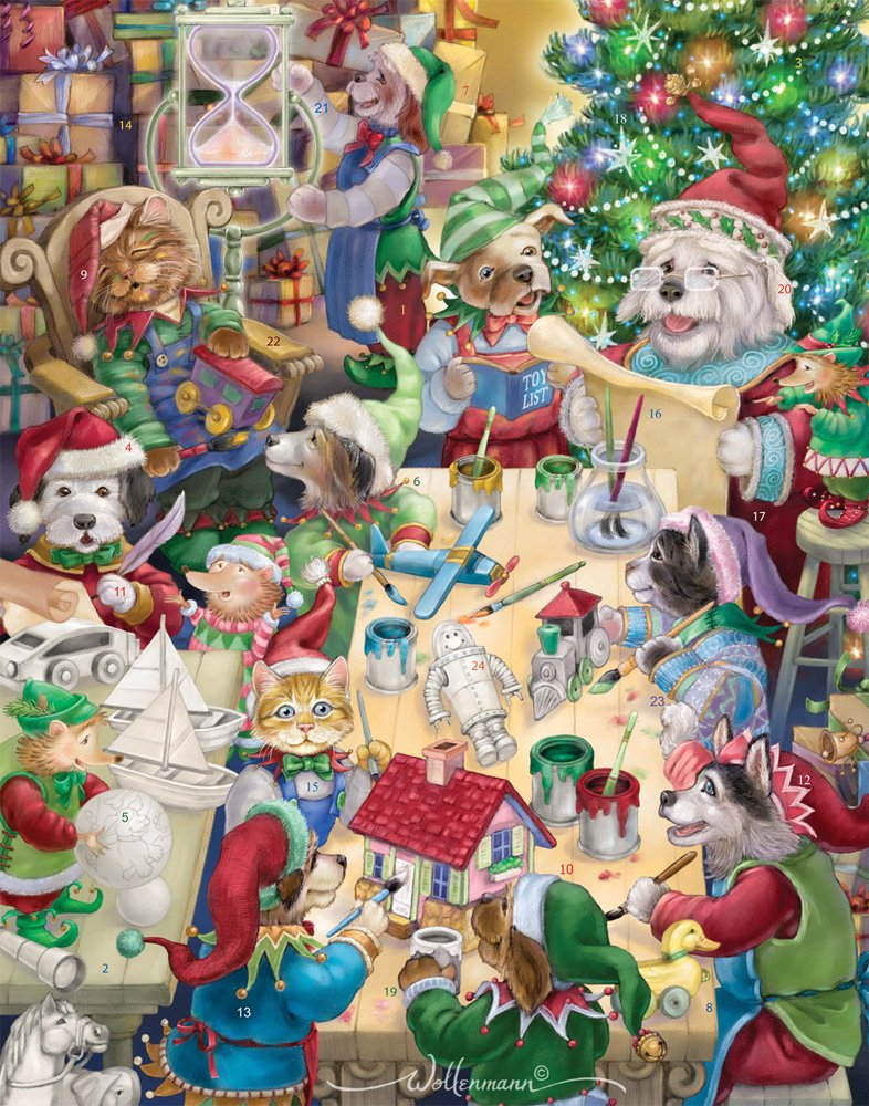 North Pole Pets Advent Calendar (Countdown to Christmas) Vermont Christmas Company