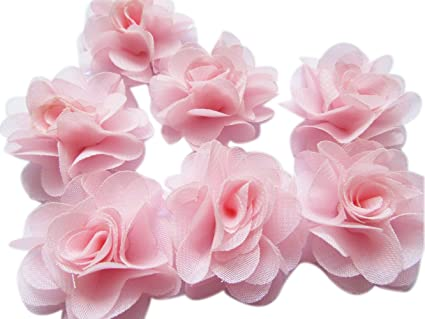 Amazon.com  YYCRAFT Pack of 30 Chiffon Flower 2