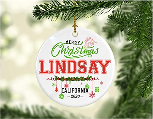 White Christmas At California 2020 Amazon.com: Christmas Decorations Tree Ornament   Gifts Hometown
