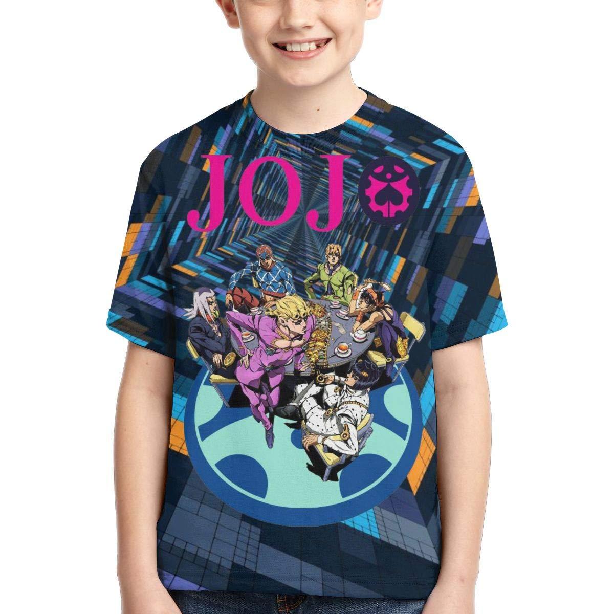 Zengqinglove Boys,Girls,Youth JoJos Bizarre Adventure Tee Shirt