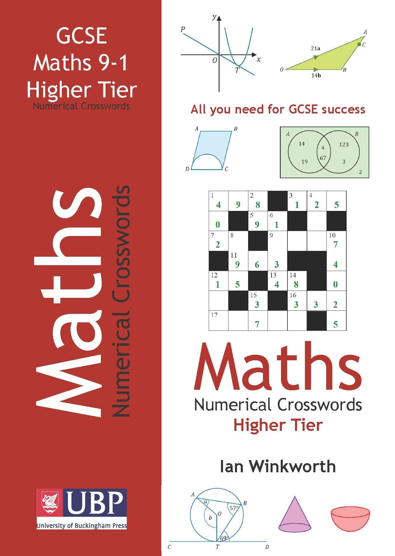 Download GCSE Mathematics Numerical Crosswords Higher Tier (written for the GCSE 9-1 Course) pdf
