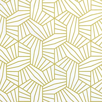 Heloho Gold And White Geometric Hexagon Wallpaper Peel And Stick Wallpaper Gold Shelf Drawer Liner Wallpaper Luxury Paper Self Adhesive Removable Wallpaper Vinyl Film Wall Paper Roll Diy 78 7 X17 7 Amazon Com