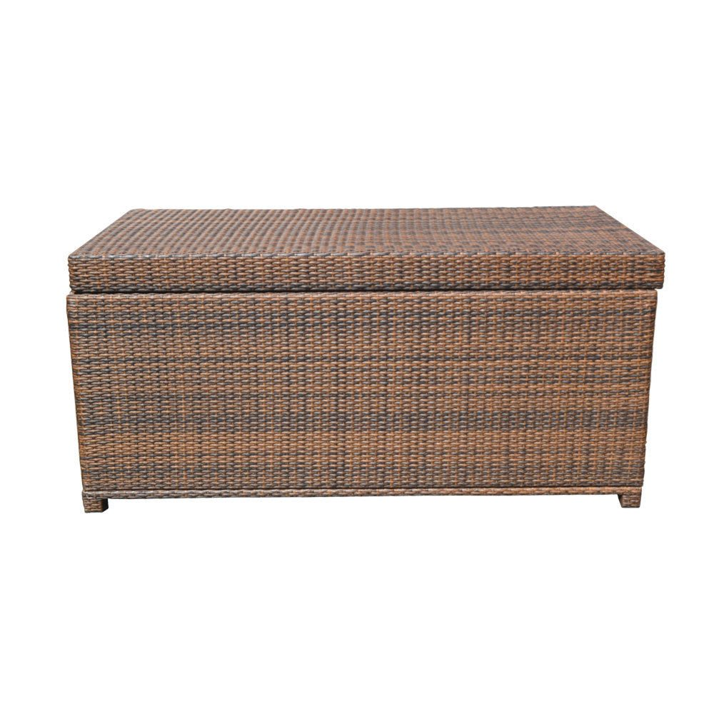 Style 2 ESPRESSO 64'' x 30'' x 30'' Large Wicker Storage Box Chest Deck Poolside Storing Patio Case by Generic (Image #3)