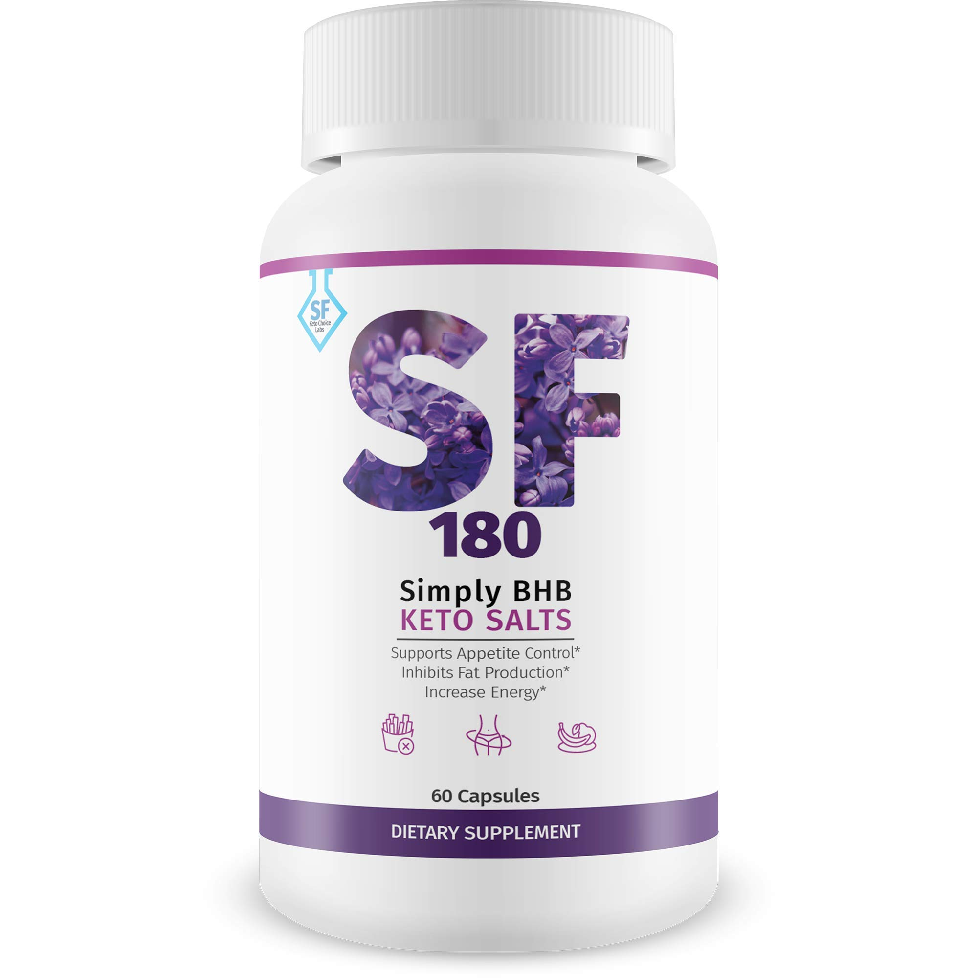 SF 180 - Simply SF Keto Diet - Burn More Fat Faster with Boosted Ketosis Entry - Beach Body All Year Round with Simply Fit Keto Miraculoux Ketones Pills - Slimfit 180 Keto BHB by Keto Choice Labs by SF Keto Choice Labs