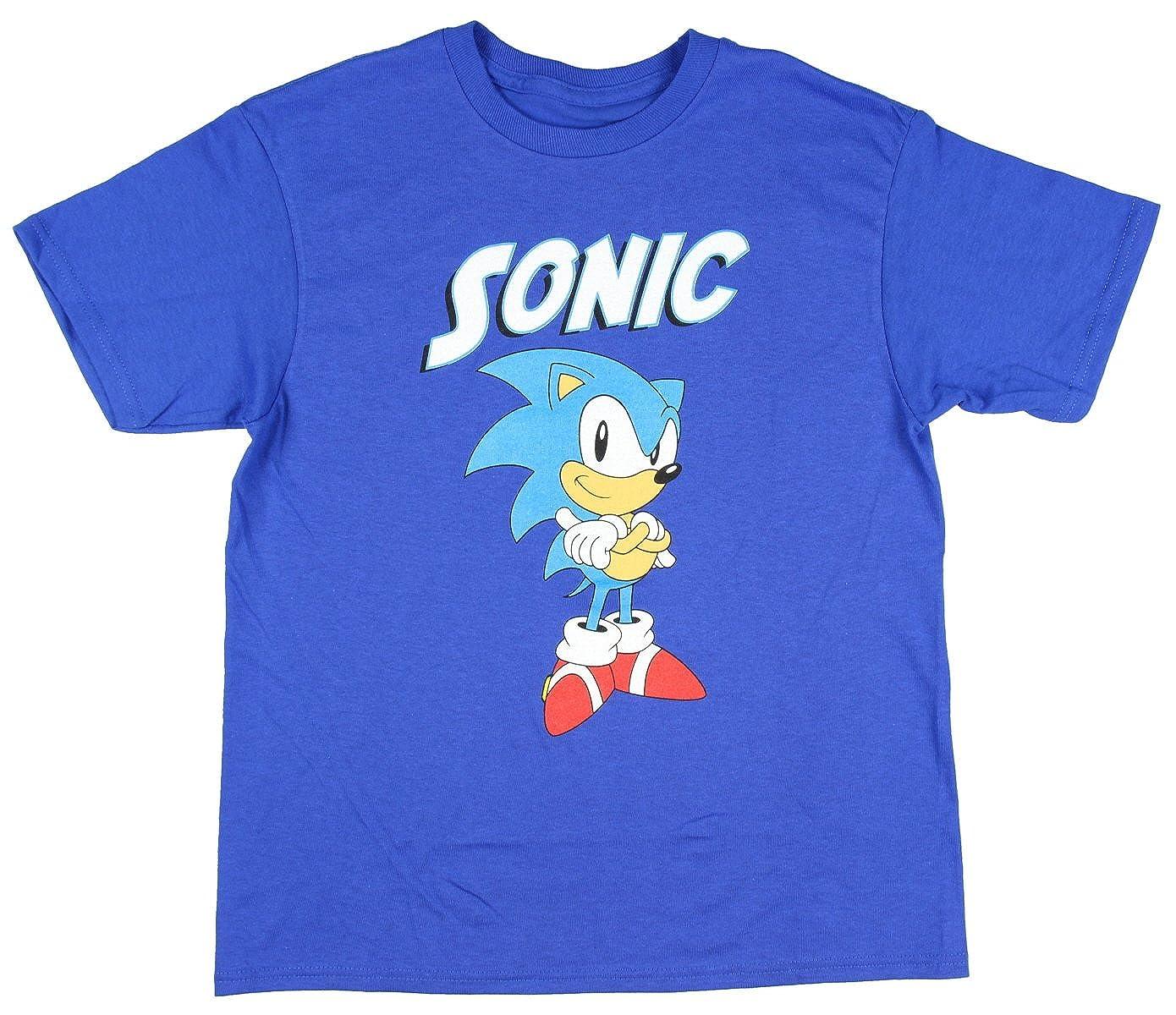 Sonic the Hedghog Sonic Big Boys T-Shirt Bioworld