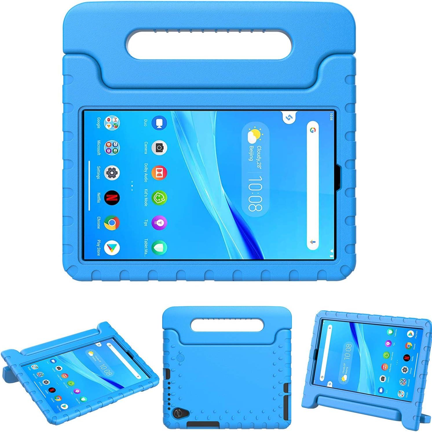 TeeFity Lenovo Tab M8 HD/Smart Tab M8 / Tab M8 FHD 2019 Tablet Kids Case, Shockproof Light Weight Handle Stand Kids Case for Lenovo Tab M8 TB-8505F TB-8505X TB-8705F TB-8705N 2019 Tablet, Blue