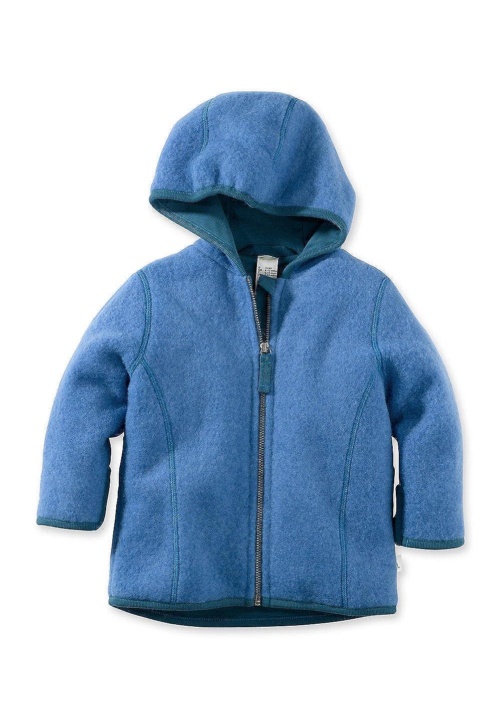 hessnatur Baby Mädchen und Jungen Unisex Wollfleece Jacke aus Reiner Bio-Merinowolle