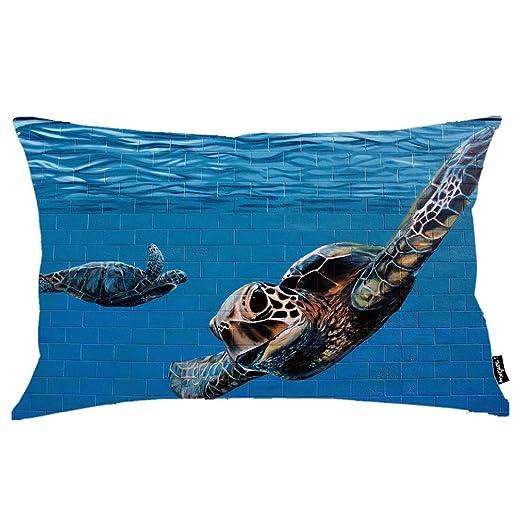 i FaMuRay Turtle Graffiti Funda de Almohada Queen Size 20 ...