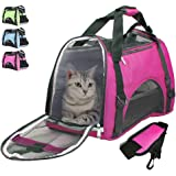 Airline Approved Pet Carrier Under Seat Soft Sided for Dogs Cats Small Puppies Airline Travel Handbag Shoulder Bag