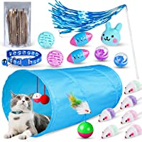ZooZoo - Juego de juguetes para gatos, color azul