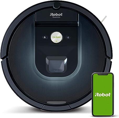 iRobot Roomba 981 - Robot aspirador, Wifi, Aspiración de alta potencia, Dirt Detect, recarga y sigue la limpieza, para mascotas, sugerencias personalizadas, compatibilidad con asistentes de voz: Amazon.es: Hogar
