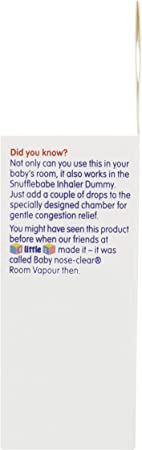 Amazon.com: Snufflebabe Snuffle Babe Vapour Oil - Suitable From Birth- BaBreath Clearly: Home & Kitchen